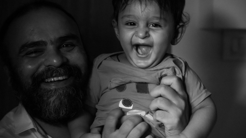 Vikram & Rishaan - Photographing the photographer with his young little client