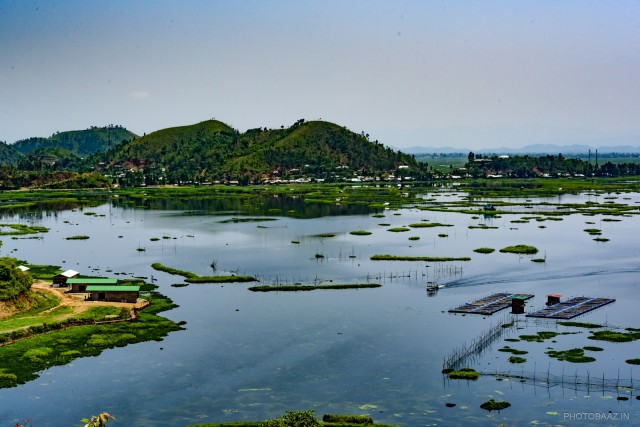 View of Loktak lake in Manipur, India