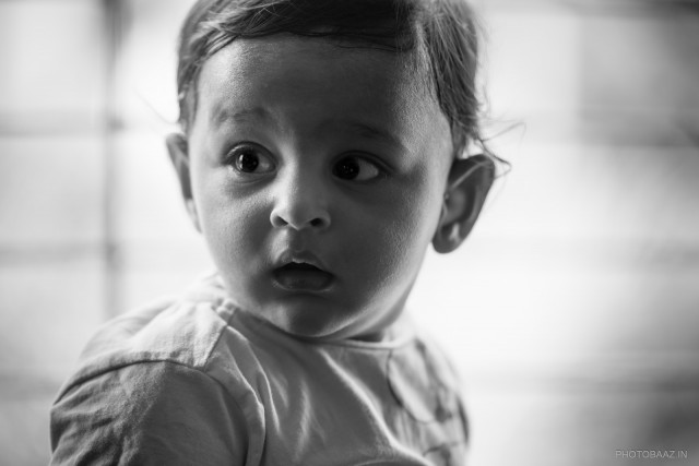 Adorable Little Rishaan - baby boy looking away